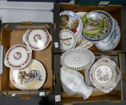 A mixed collection of items to include: Decorative Wall Plates, Wedgwood Queens Ware plate, Royal
