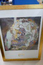 Large Gustav Klimt Framed Print: