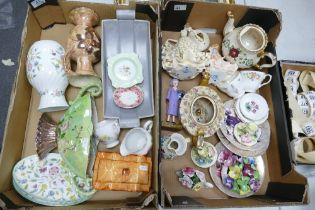 A mixed collection of items to include: Minton Haddon Hall Vase & Plates, Floral Decorated