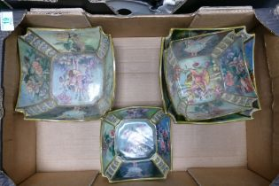 A collection of Carltons Fantasia Ware Burslam Bowls: decorated with fairies & foliage