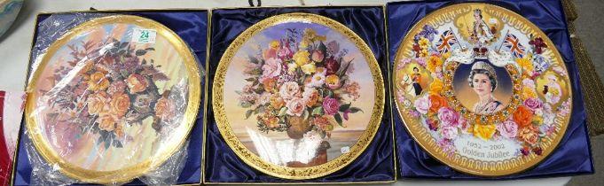 Royal Albert & Bradford Exchange Decorative Limited Edition wall Plaques: diameter 28cm(3)