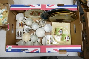 A mixed collection of items to include: Royal & Political Commemorative items etc