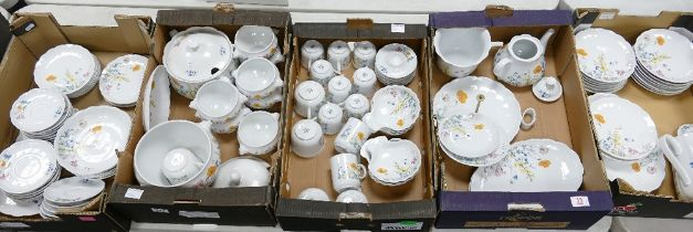 A very Large Collection of Seltmann Weiden Bavaria Floral decorated Tea & Dinner ware to include: