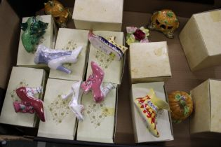 A collection of Coalport shoes to include: Alladin, Cinderella, Sleeping Beauty etc together with