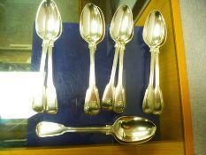 10 Silver spoons;all the same design, Hallmarked GA - George William Adams, London 1841, each spoon