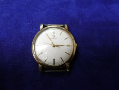 Vintage Omega watch in 9ct yellow gold case, marked 9ct