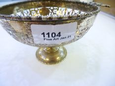 George Nathan & Ridley Hayes, 1913 Chester. A silver porringer with pierced fret design with ornat