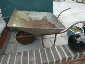 Vintage wheelbarrow/garden planter