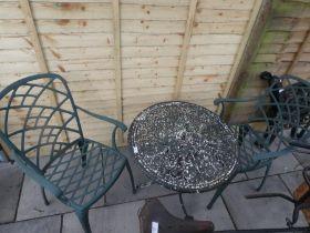 Cast iron round bistro set