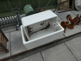 Two large butler sinks