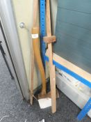 Wooden axe and wooden measuring tools