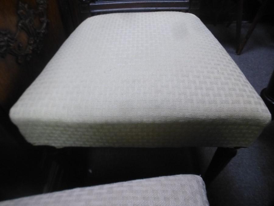 Set of 8 antique Mahogany dining chairs having lattice backs - Image 2 of 4