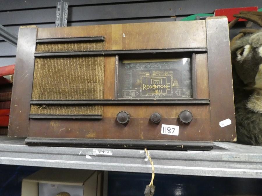 Vintage Regentone radio and a selection of radios by Philips, Solar, Eiggro, etc