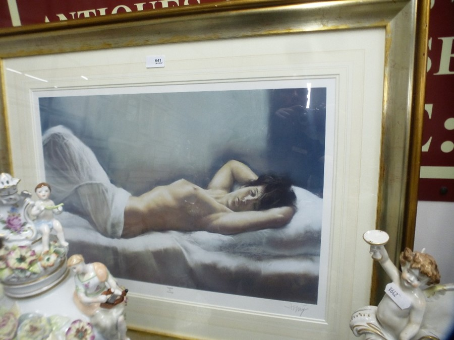 Two similar limited edition pencil signed prints of female nudes by Domingo