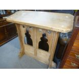 Old pitch pine lectern 112cm wide