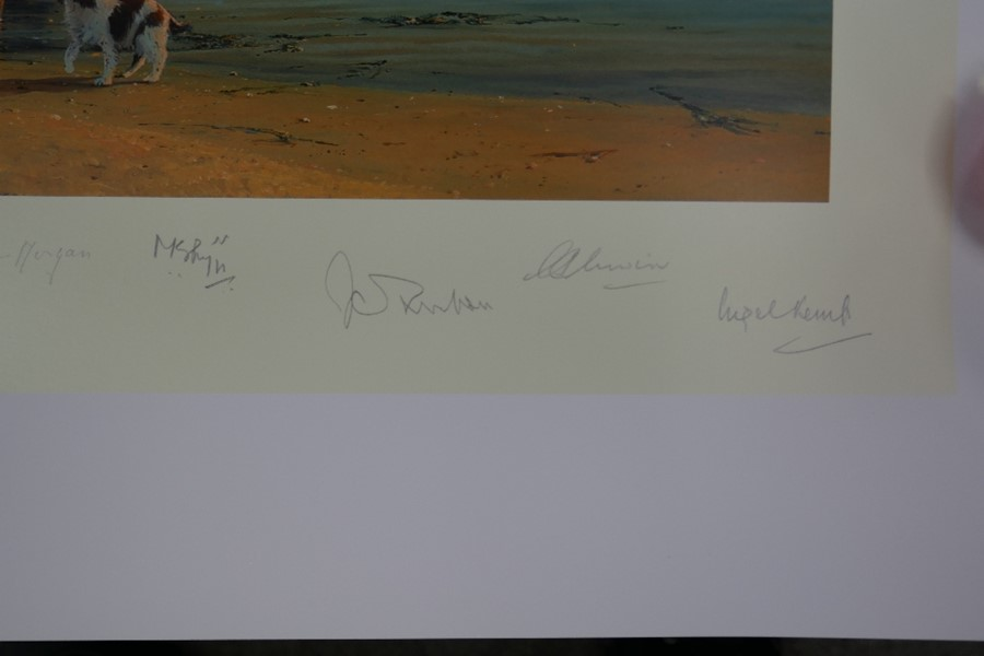 Robert Taylor A time for Heroes a limited edition coloured print with numerous pencil signatures, un - Image 4 of 4