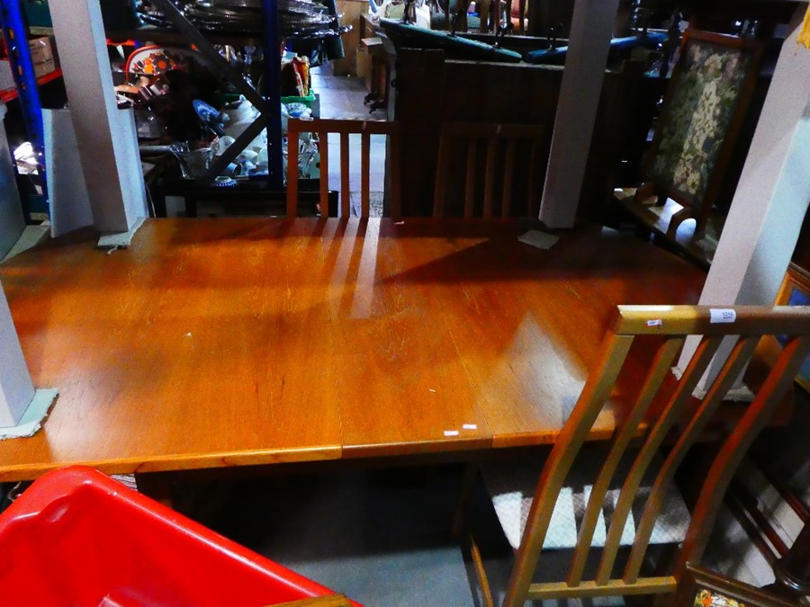 Mid century table and 4 chairs - Image 2 of 3