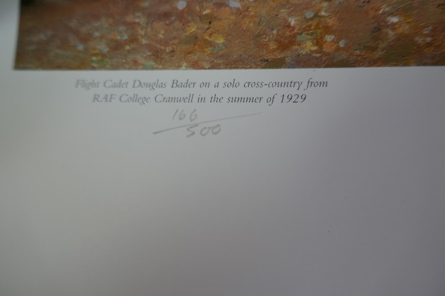 Gavin Mackay 'Chasing the Flying Scotsman' print signed by Lady Bader and a small Robert Taylor prin - Image 7 of 7