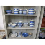 A small quantity of Cornish blue and white kitchenware incl. a Limited Edition jelly mould