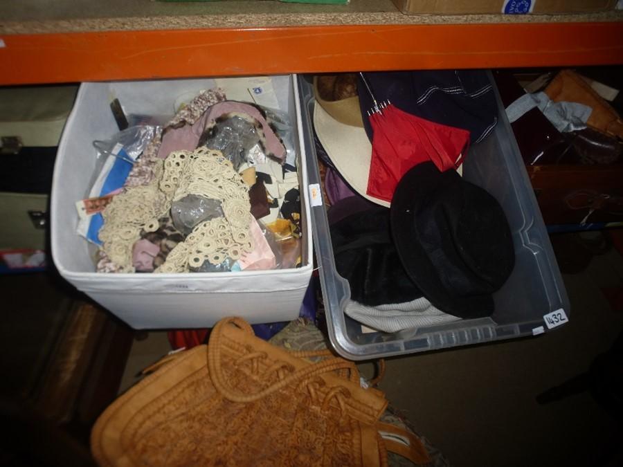Quantity of vintage clothing, furs, bags etc