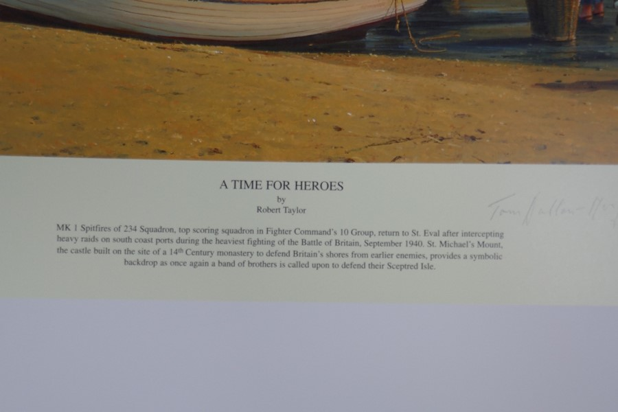 Robert Taylor A time for Heroes a limited edition coloured print with numerous pencil signatures, un - Image 2 of 4