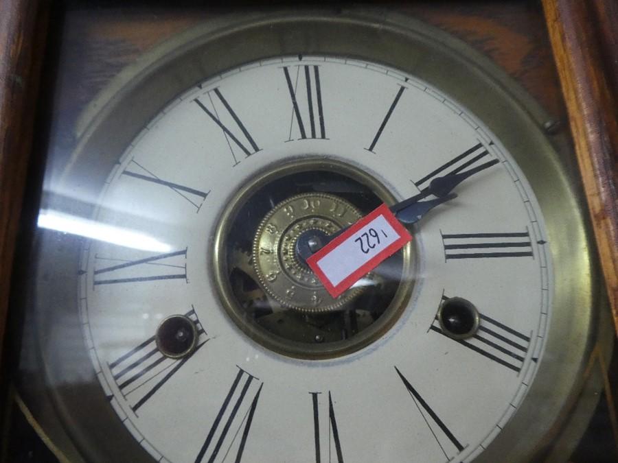 Vintage wooden cased pendulum wall clock - Image 2 of 2