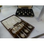 A set of eight silver Apostle spoons hallmarked Sheffield 1915, Atkin Brothers, with twisted design