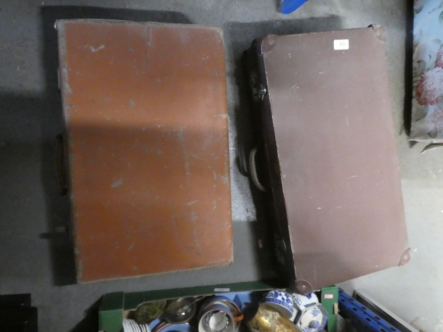 Two old leather cases