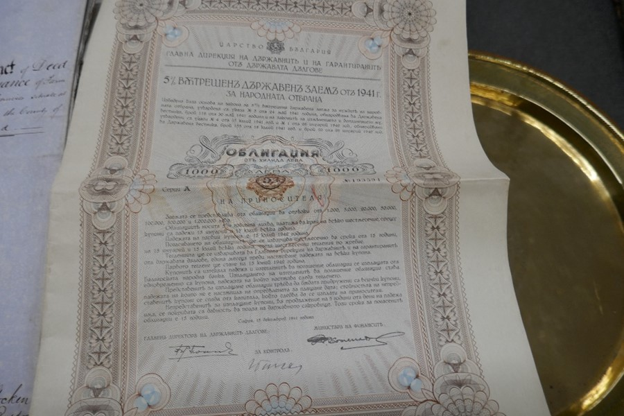 A tray of antique indentures, deeds and other ephemera - Image 3 of 4