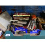 Selection of mixed collectables including tinplate toys, Corgi, kids annuals and comics, etc