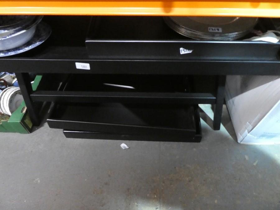 A black coffee table
