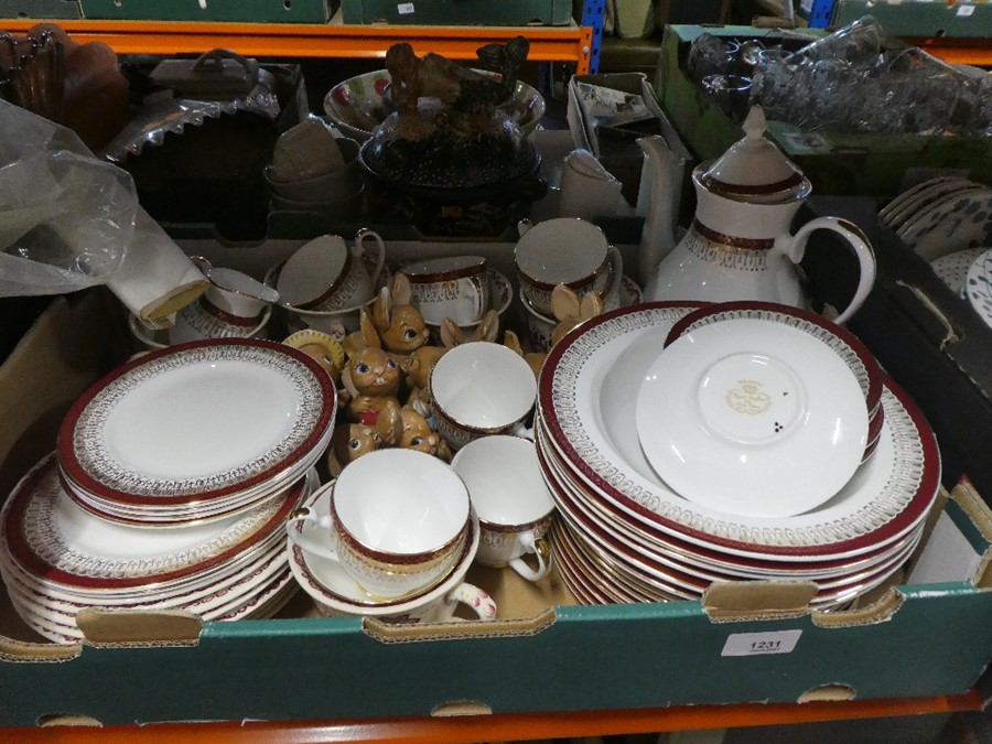 Two boxes of china to include Royal Grafton, Hornsea and Bunny figures - Image 2 of 3