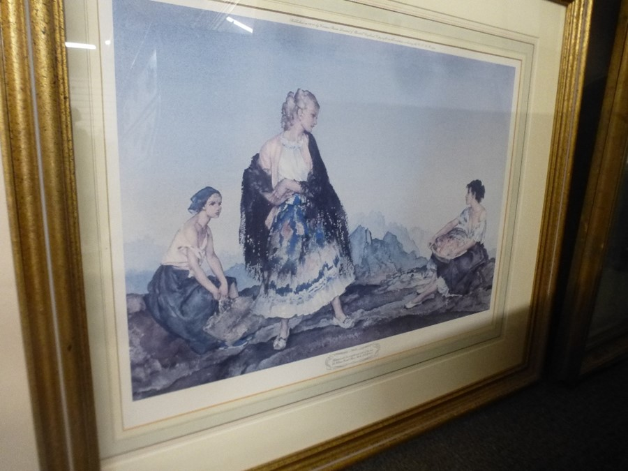 Limited edition Russell Flint print of two ladies and two others - Image 4 of 4
