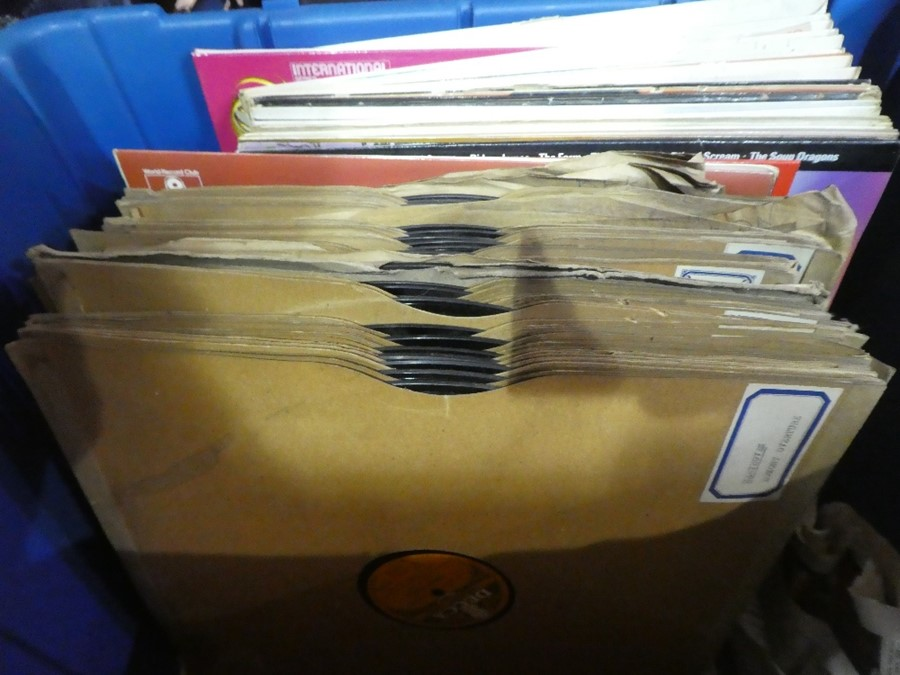 Two boxes of records of various themes, books etc , - Image 2 of 2