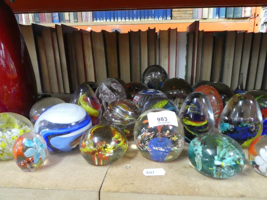 A selection of glass paperweights, including one by Wedgwood - Image 2 of 2