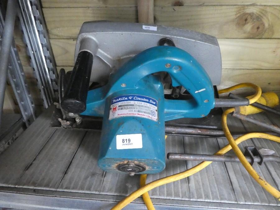 A MAKITA circular saw, 110v