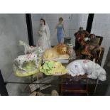 A quantity of figurines Royal Doulton, Lancaster and Bandland Ltd, Staffordshire