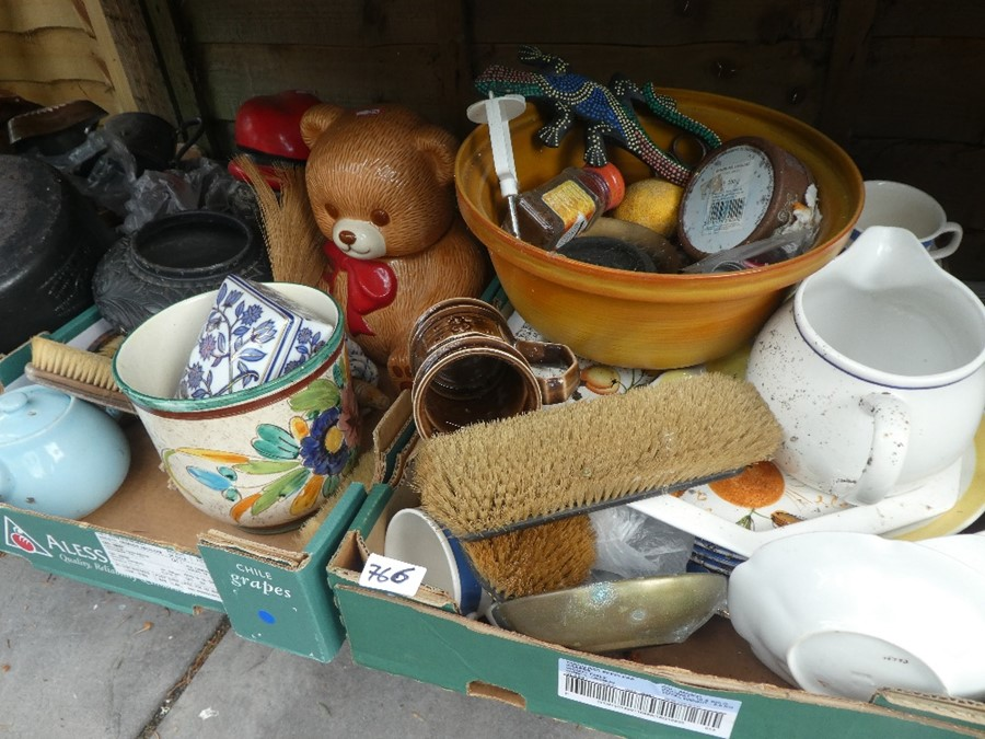 11 boxes of china, glass and sundries to include vases, jugs, plates, copper ware etc - Image 2 of 3