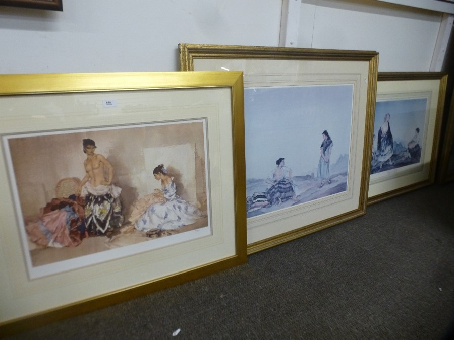 Limited edition Russell Flint print of two ladies and two others