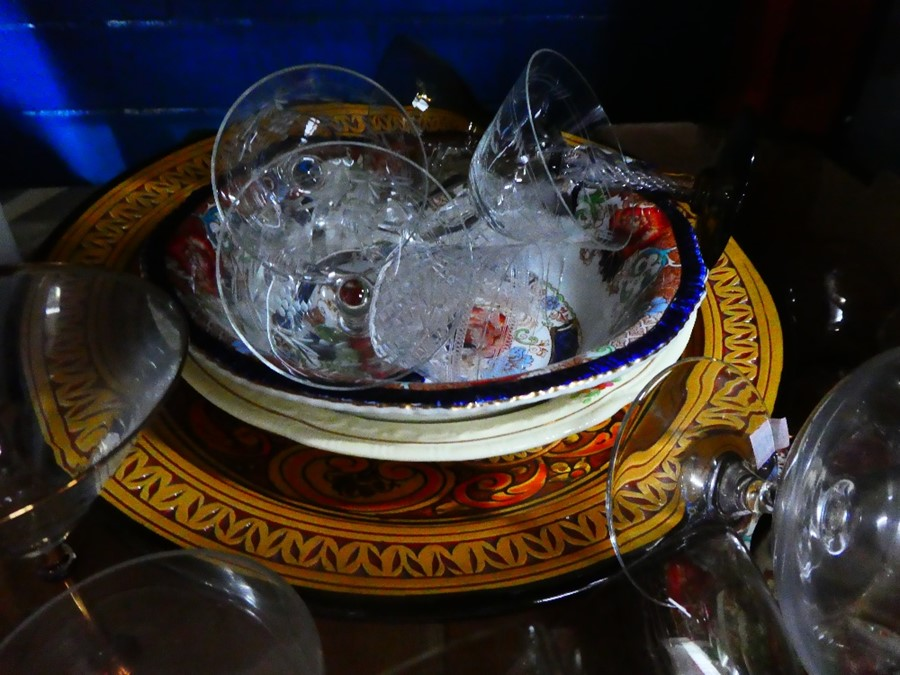 Mixed box of china and glass including Crown Ducal - Image 3 of 4