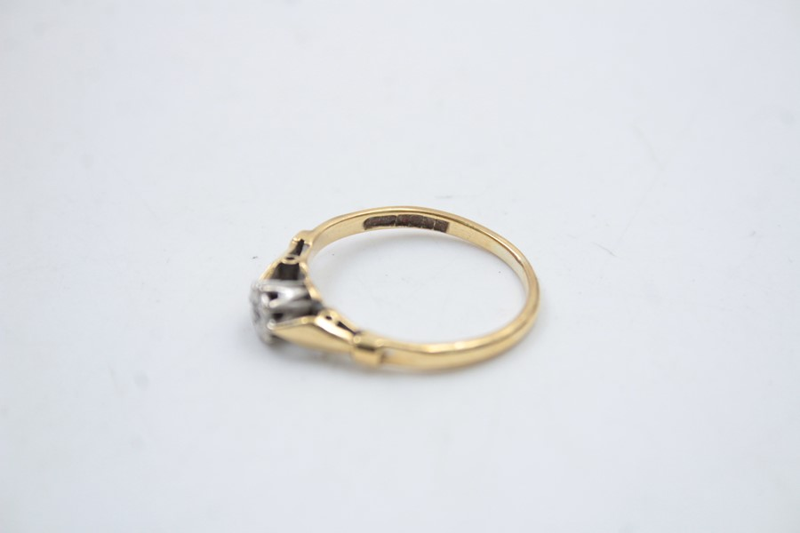 18ct gold diamond solitaire ring 2.6g - Image 5 of 6