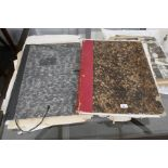 Two folders of antique engravings, mainly 19th century and other unframed items