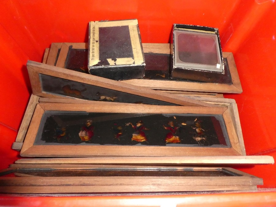 A quantity of magic lantern slides and similar, some topographical