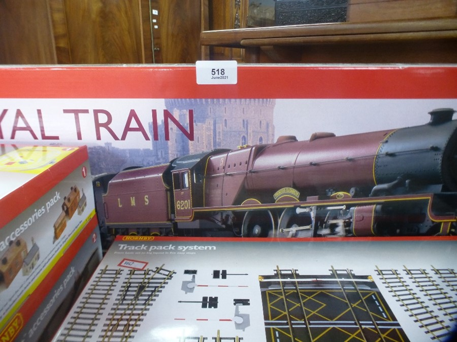 A Hornby OO Gauge Royal Train boxed set with additional accessory packs
