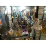 Selection of myths and magic figures, paperweights, some signed