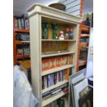 Painted wooden bookcase