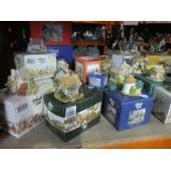 A large quantity of Lilliput Lane houses with boxes approx 40 plus