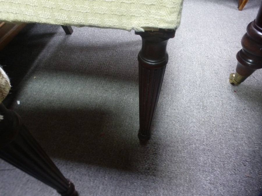 Set of 8 antique Mahogany dining chairs having lattice backs - Image 4 of 4