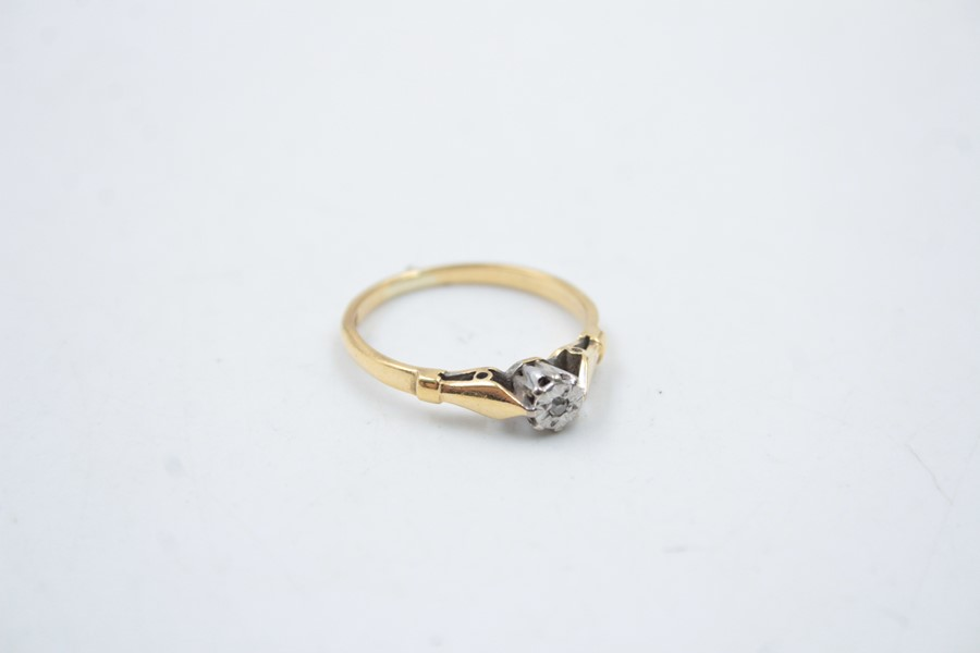 18ct gold diamond solitaire ring 2.6g