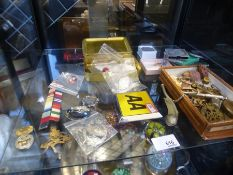 Military badges, buttons, coins and sundry